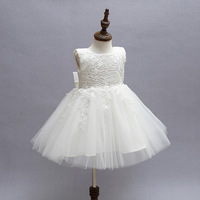 First Communion Dresses For Girls 2017 Tulle Dress Girls Lace Infant Toddler Pageant Gown Flower Girl