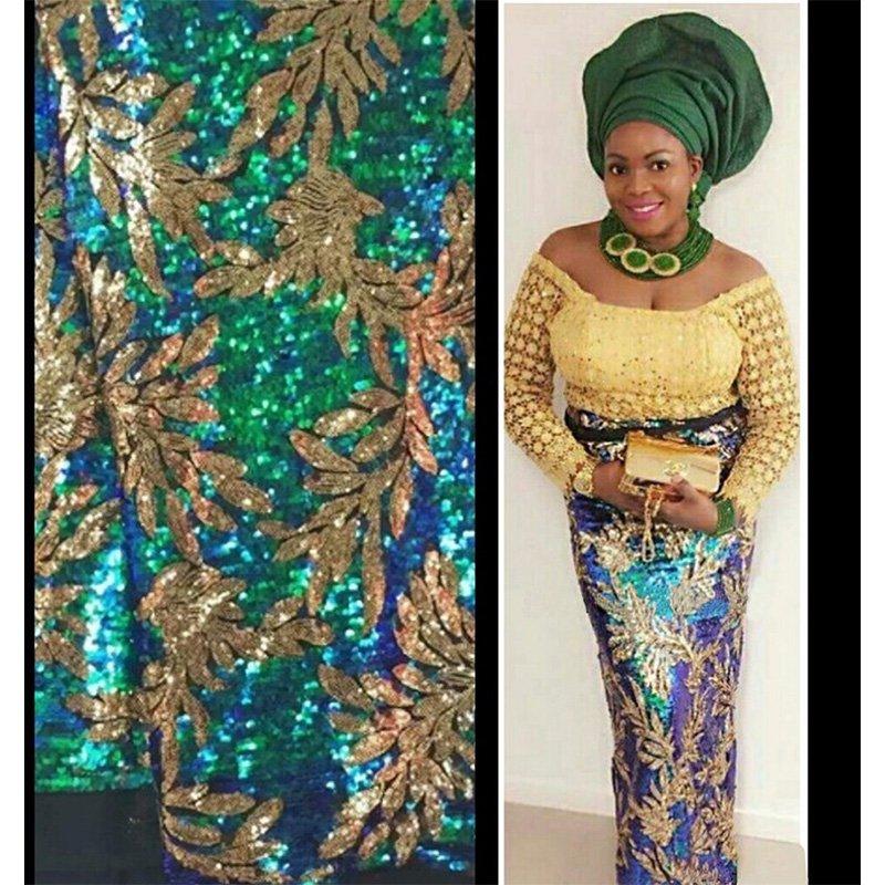 2017 새로운 프랑스어 나이지리아 골드 장식 조각 레이스 아프리카 얇은 명주 그물 레이스 패브릭 파티 웨딩 드레스에 대한 고품질의 고급 장식 조각-에서레이스부터 홈 & 가든 의  그룹 2
