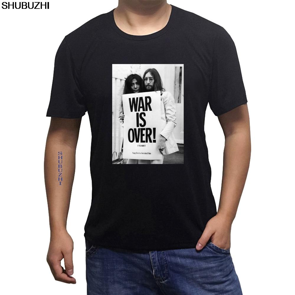 Kurzarm T Hemd * Hip Hop Männer T-shirt Rock Unisex T Hemd Sbz1460 Hochwertige Materialien Krieg Ist Über John Lennon MÄnner S T Shirt Designer Sommer