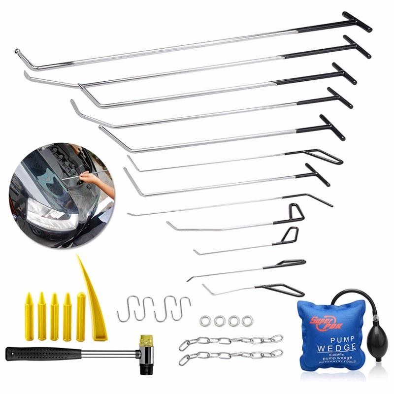 PDR Tools Push Rods Hooks Car Crowbar Dent Removal Paintless Dent Repair Tools Set  Locksmith Tools PDR Kit Ferramentas фидерные удилища купить в интернет магазине