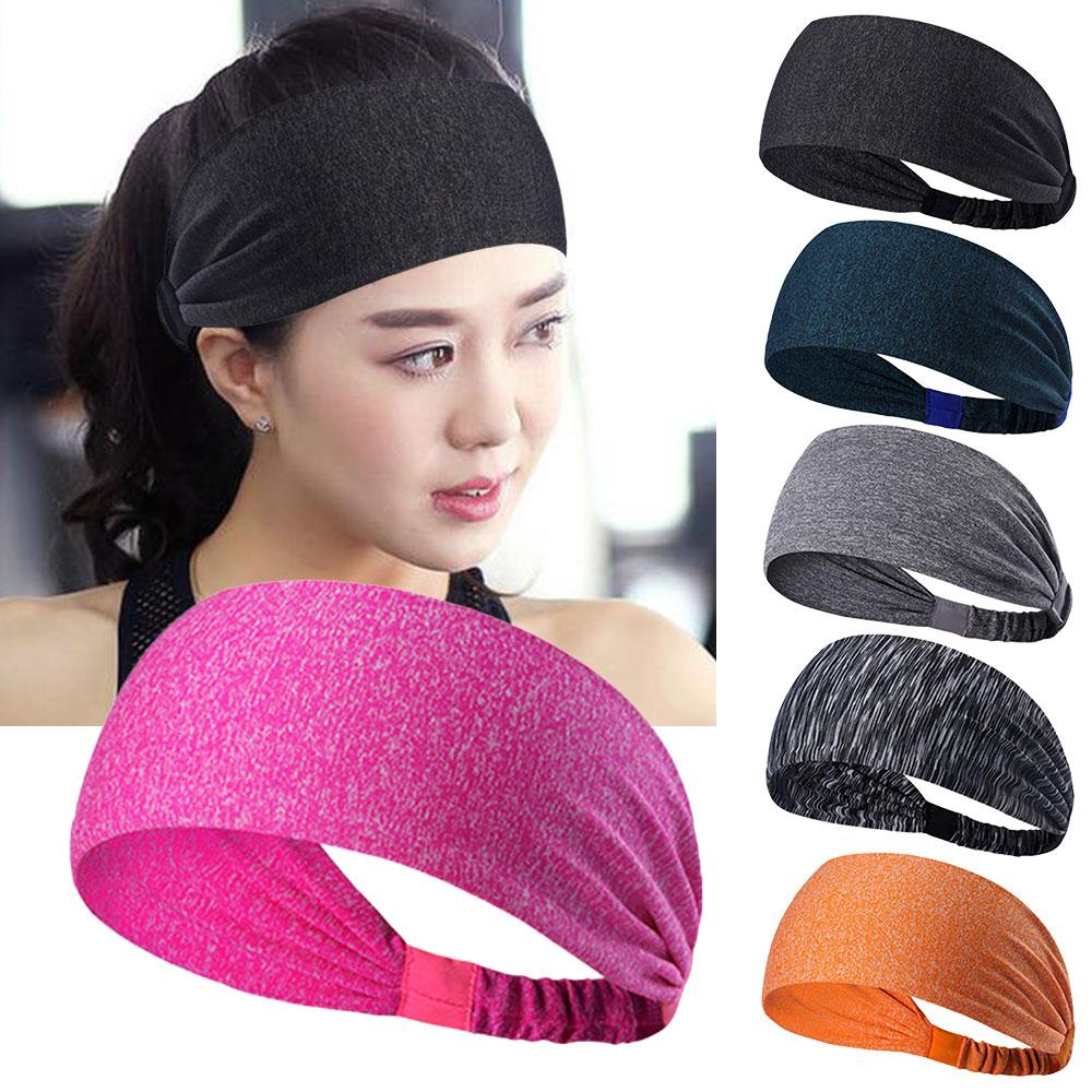relefree Women Stretchy Sweatbands Headbands Tenis Sports Multi-function Cycling Yoga Br ...