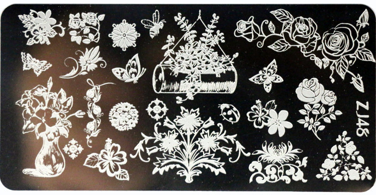 1 Pcs New Arriving 612cm Flower Sea Nail Stamping Plates