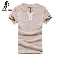 New 2014 Men T Shirt Environmental Cotton Hemp Casual Straight Slim Solid T Shirts For Younger