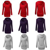 2015 Womens New Trendy Hoodie Casual Sports Tops Tee Shirt T Shirt Coat Outerwear Autumn Winter