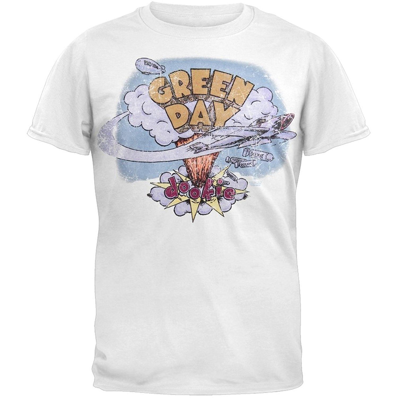 LEQEMAO T Shirt O Neck Fashion Casual High Quality Print T Shirt Green Day Dookie T