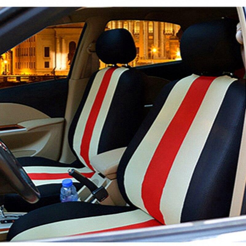 Acheter Universel Siège D'auto Couverture Frappé couleur rouge beige 3D Voiture style Pour Sièges De Voiture Protecteur Intérieur Accessoires Pour skoda fabia rapide de car seat cover fiable fournisseurs