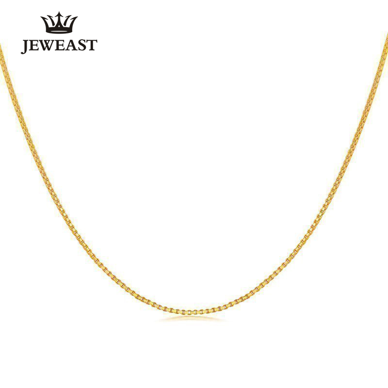 24K Pure Gold Necklace Real AU 999 Solid Gold Chain Simple Smart Upscale Trendy Classic Party Fine Jewelry Hot Sell New 2018 браслеты indira браслет с камнем br042