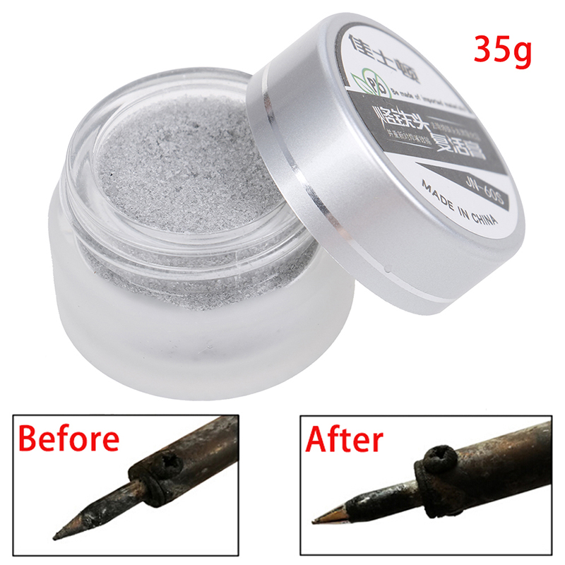 New Hot HELTC 1pc Soldering Iron Lead Free Tip Refresher Clean Paste For Oxide Solder Iron Tip Head Resurrection Repair Tools-in Welding Fluxes from Tools