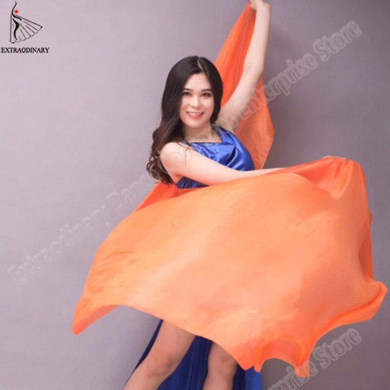 Image 5 - Velo chales para mujer danza del vientre velo de seda textura ligera puesta en escena bufanda de mano accesorios de disfraces 250cm 270cmDanza del vientre   -