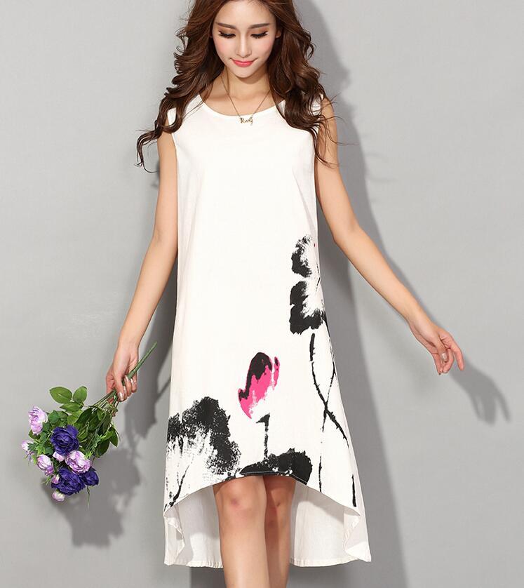 Casual Cotton Linen Dress