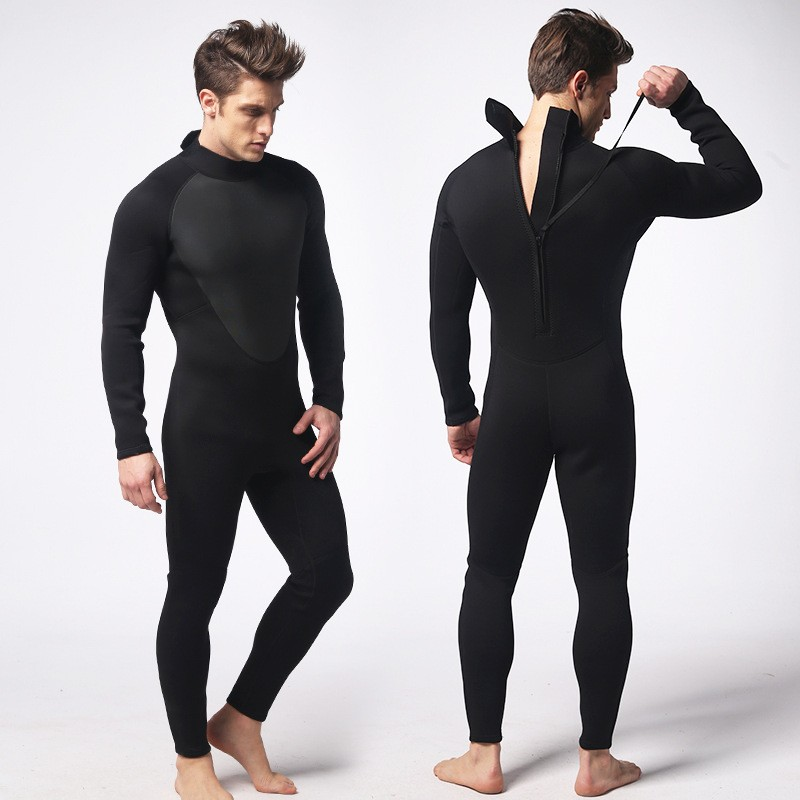 ФОТО 3MM Black Men Neroprene Wetsuits Short Pants & Sleeve One Piece Scuba Dive Swimsuit Spearfishing Surf Diving Rash Guards