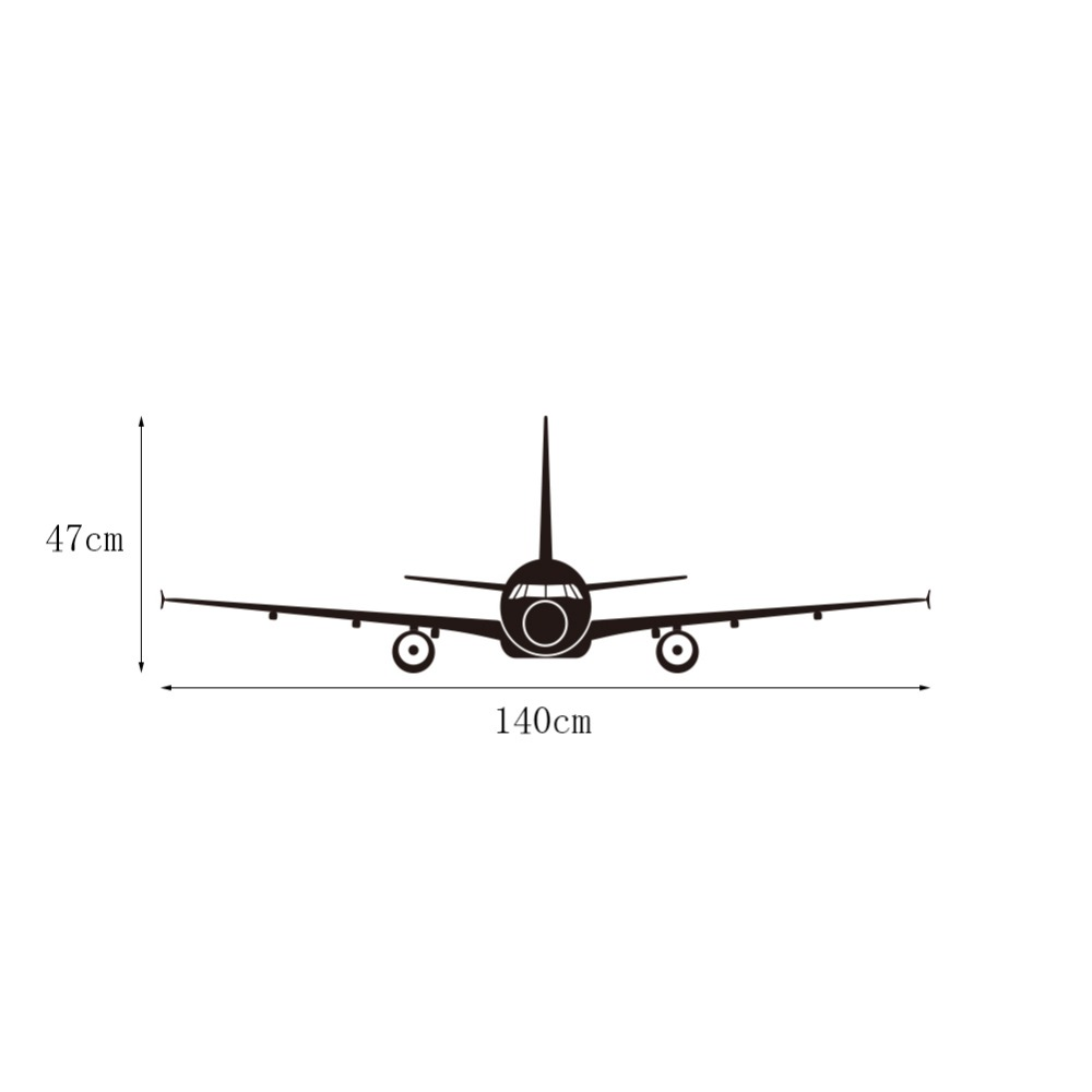 Large Airplane Wall Stickers 3D Muraux Home Decor Aircraft Art Decal ...