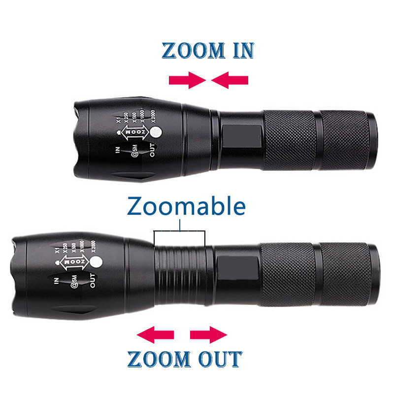 Z40 светодиодный XM-L T6 новые 8000 Люмен X900 фонарик факел Масштабируемые вспышки лампочки свет для USB Зарядное устройство 3 светодиодный фонарь