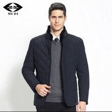MUDI Brand White Duck Down Coats Fashion Men's Rabbit Fur Collar Removable Thick Warm Duck Down Coats Male Parka Anorak Jackets