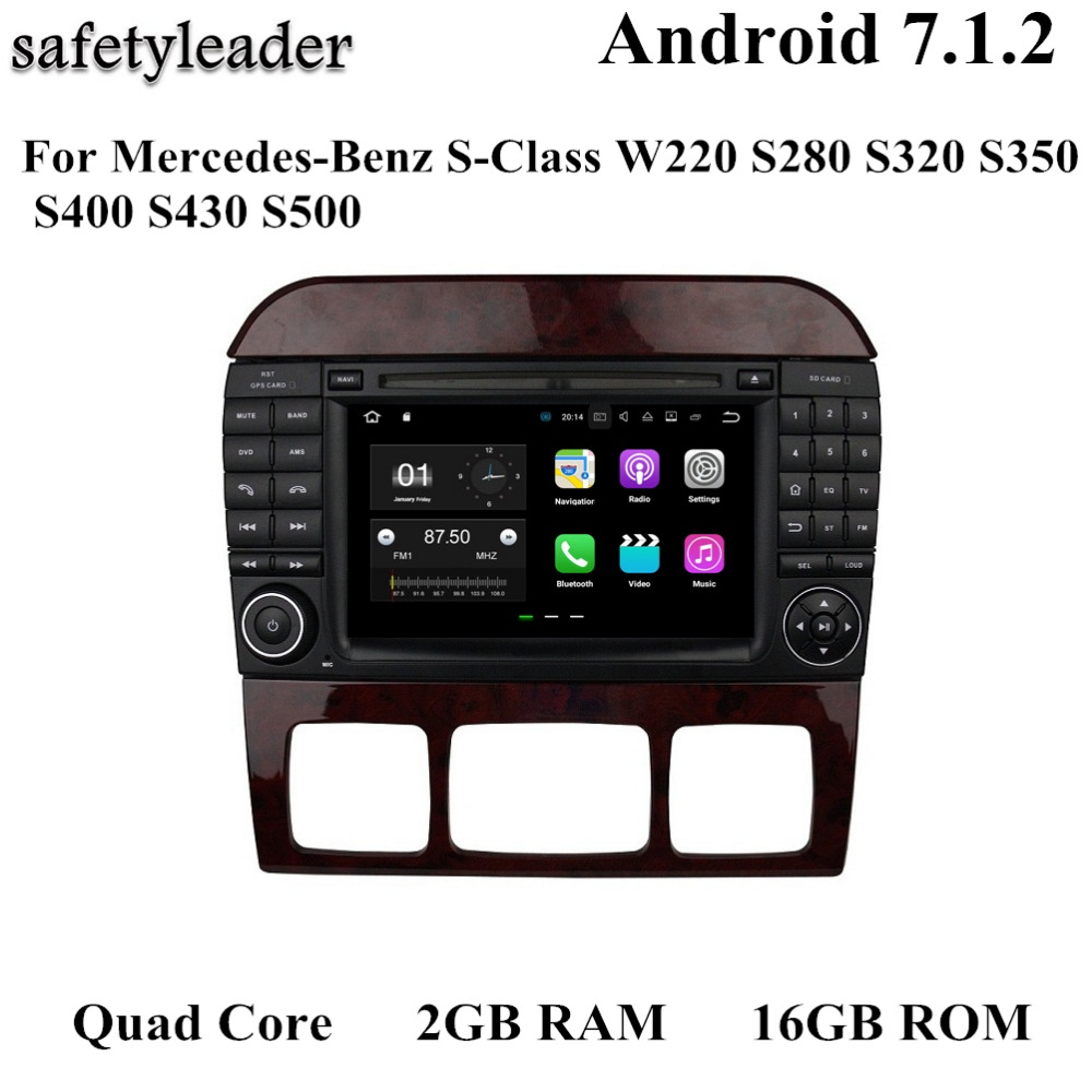android 7 1 car radio gps multimedia head unit for mercedes benz s class w220 s280 s320 s350. Black Bedroom Furniture Sets. Home Design Ideas