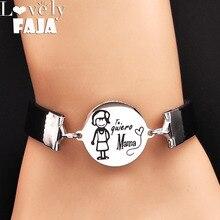 цена на 2019 Tree of Life Leather Stainless Steel Bracelet Women Silver Color Bracelets Bangles Jewelry bracelet manchette femme B18160
