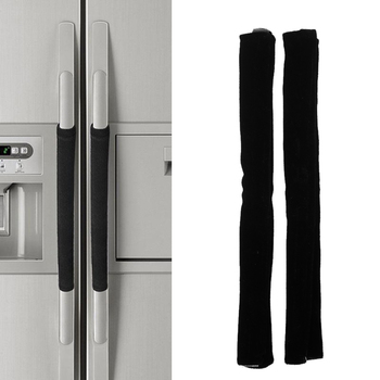 2PCS Refrigerator Door Handle Covers Keep From Smudges Food Oil Dishwashers Skid Resistance Kitchen Appliance Clean Decor