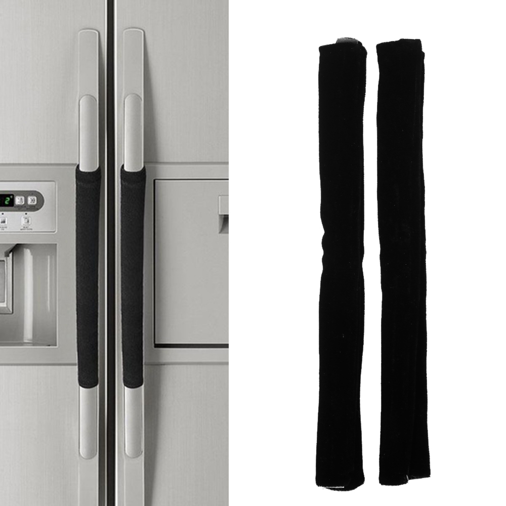 Refrigerator Oven Door Handle Covers Kitchen Appliance Free Of Smudges /& Dust US
