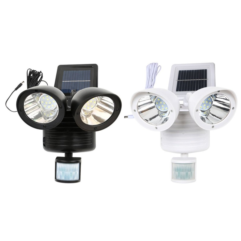 22 LED PIR Detector Solar Security Lamp Solar Spot Light Motion Sensor Floodlight Outdoor Lighting for Garden Yard White Black22 LED PIR Detector Solar Security Lamp Solar Spot Light Motion Sensor Floodlight Outdoor Lighting for Garden Yard White Black