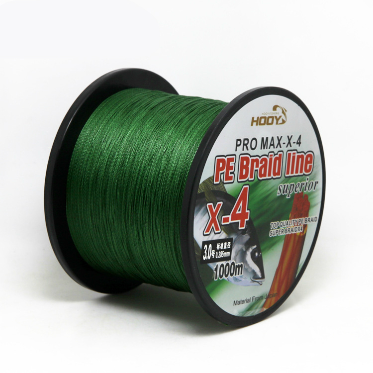 Strong 4 strands 1000 meters fishing line PE anti fish bite lures line super strength durable fish thread