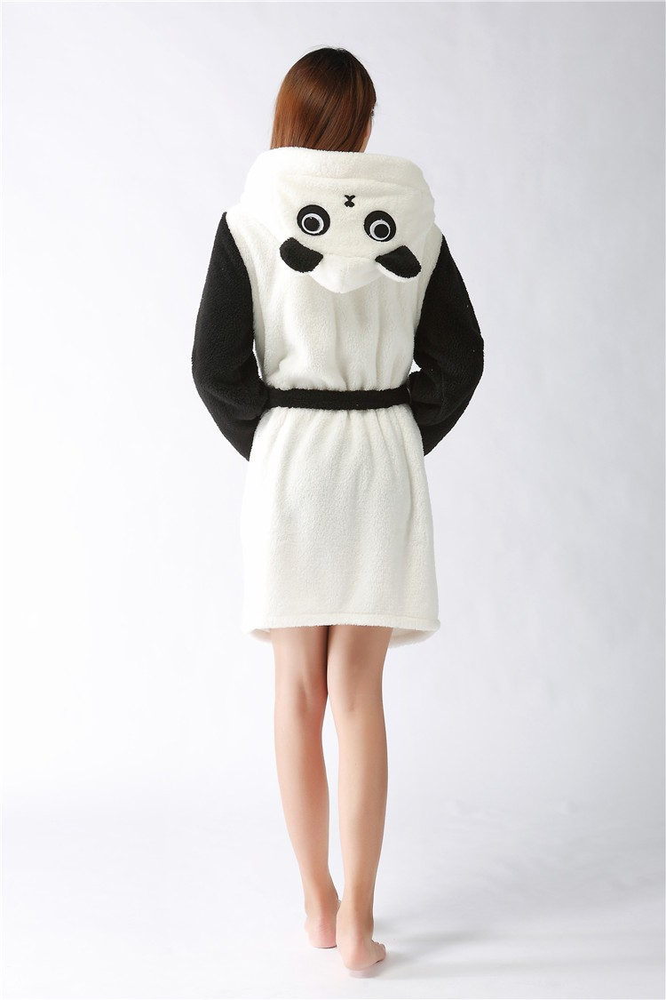 Aliexpress.com : Buy New plush robe Adult Animal panda Pajamas long ...
