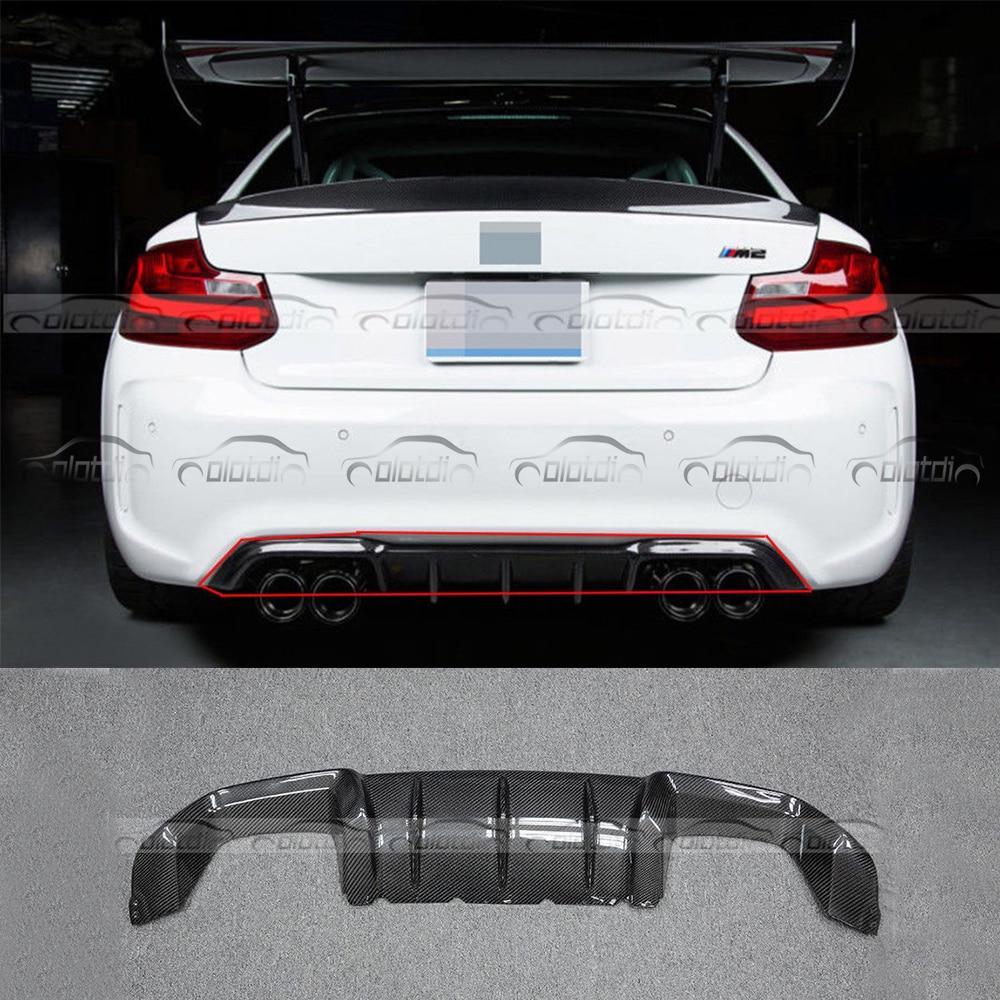 Lèvre arrière fibre de carbone P style diffuseur séparateur tablier rabats pour BMW série 2 F87 M2 Base Coupe 2 portes 2016-2017 voiture style