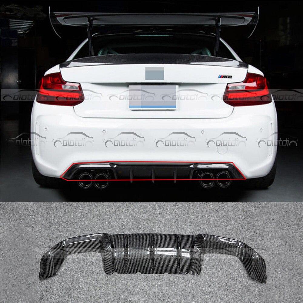 Rear Lip Difusor de Fibra De Carbono P estilo Avental Splitter Flaps para BMW Série 2 F87 M2 Base Coupe 2- porta 2016-2017 car styling