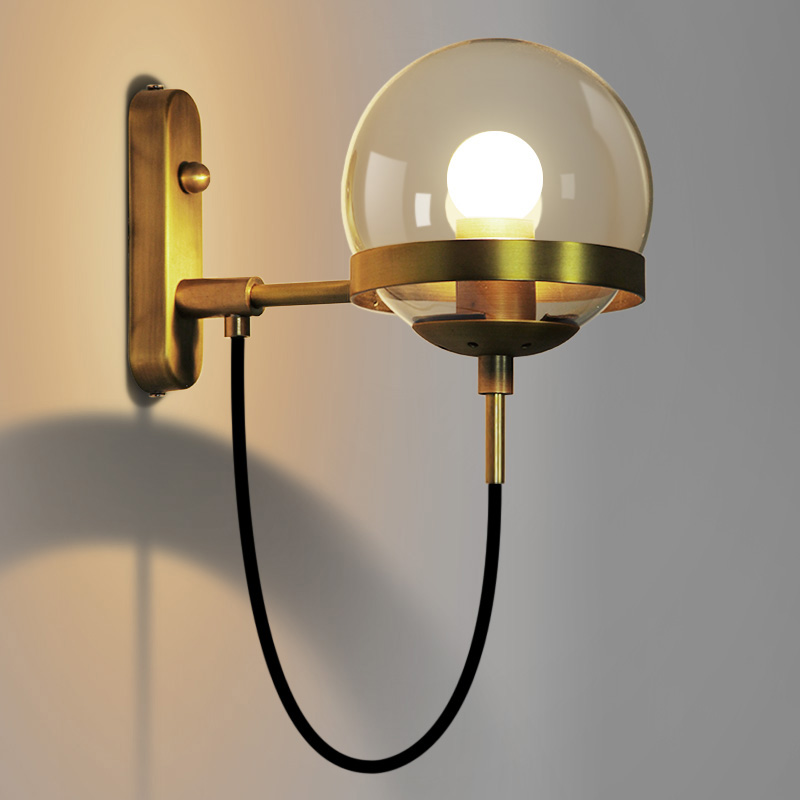 Modern Industrial Vintage wall light glass wall light cafe Bar Restaurant E27 E26 Edison Retro Wall