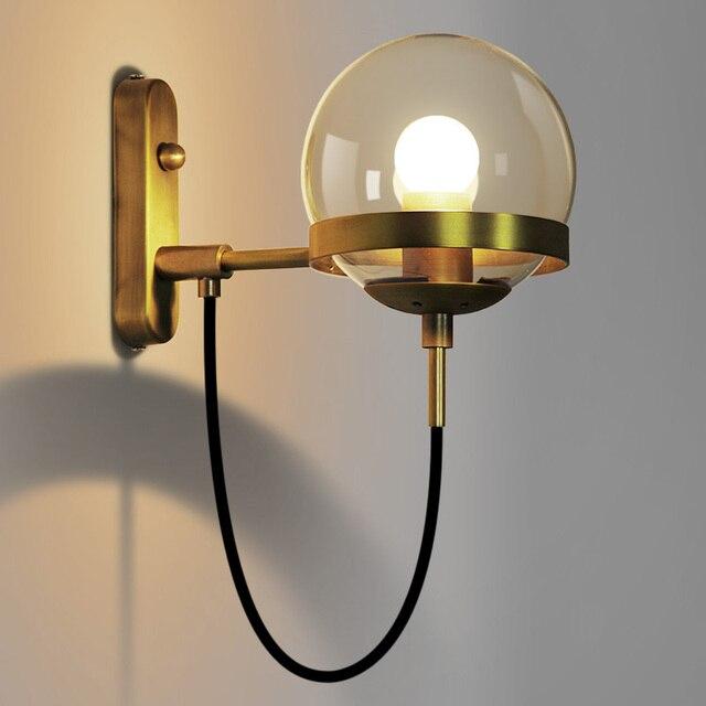 Modern Vintage Wall Light Glass Cafe Bar Restaurant E27 E26 Edison Retro Bedroom Lamp