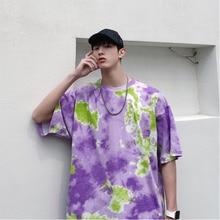 Summer New Camo T Shirt Men Fashion Printed Casual Short-sleeved Tshirt Man Streetwear Trend Wild Hip-hop Loose Cotton T-shirt