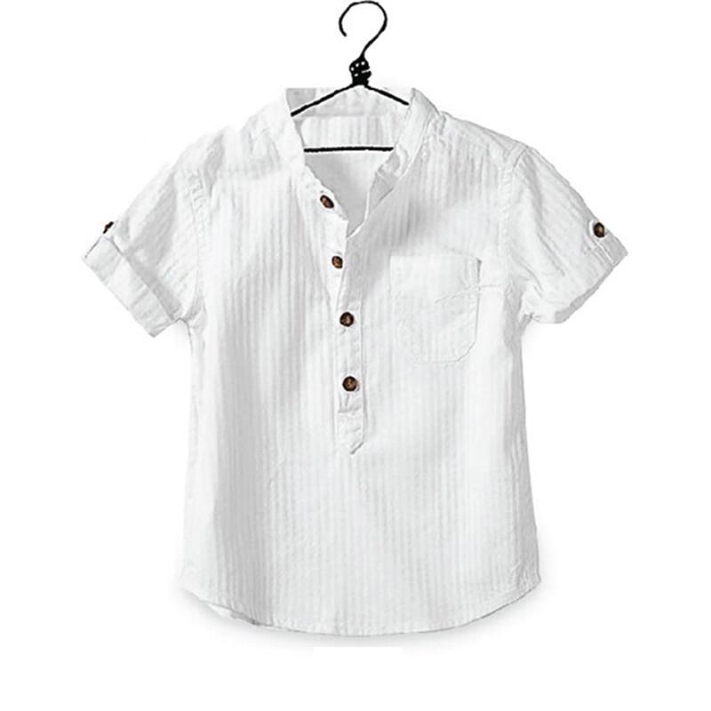 d367fad0908d Boys Shirts Summer Blouse Baby White Shirt Cotton Short Sleeve ...
