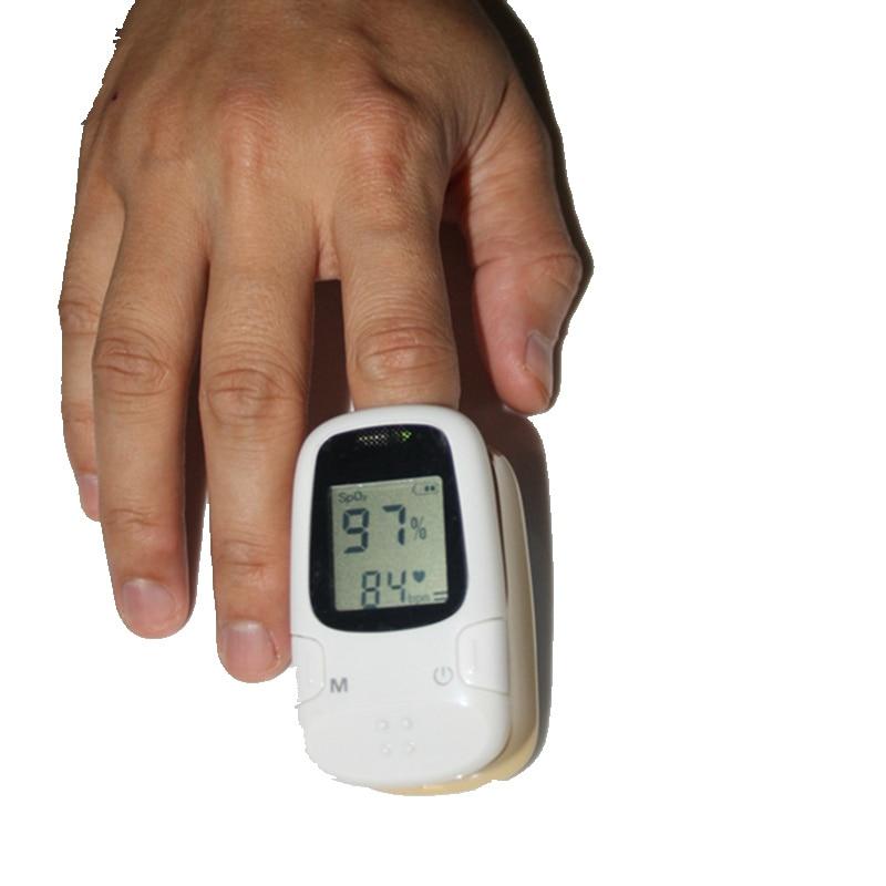 White Recording Fingertip Pulse Oximeter Monitor Pulse Oxygen Saturation  Sensor Pulse Oximeter AH-8082 elera portable finger pulse oximeter spo2 pr odi4 pi fingertip oximetro de pulso de dedo blood oxygen saturometro