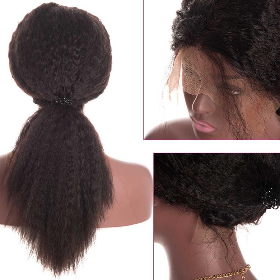 Alipop preplicked 360 парик с кружевом спереди al 5 дюймов часть кружева передние человеческие волосы парики с волосами младенца курчавые прямые бразильские волосы Remy