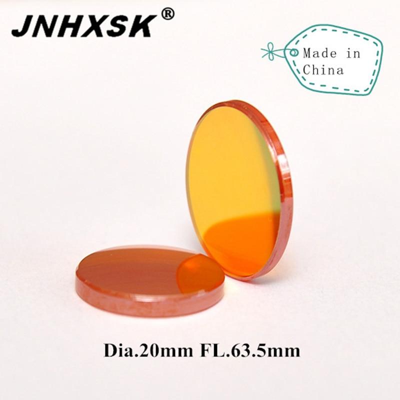 JNHXSK CN Znse CO2 Laser Focus Lens Dia.20mm FL.63.5mm Used For CO2 Laser Engraver/laser Cutter Free Shipping