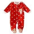 Crianças Pijama Macacão de Bebê Macacão de Bebê Recém-nascido Roupa Interior de Manga Longa Polar Pijamas Das Meninas Dos Meninos Outono Inverno Macacão