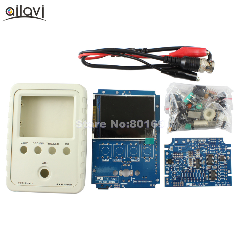 DSO Shell Upgraded Handheld Oscilloscope DIY Kit 15001K SMD Pre-soldere Electronic Learning Kit DSO138 shina dso shell oscilloscope diy kit dso138 upgraded for e learning training diy stm32 kit