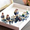 Высокого Класса в Европейском Стиле Птиц Форма Невесты HairBand Перл Свадебный Ободки Свадебные Прически Accessoies