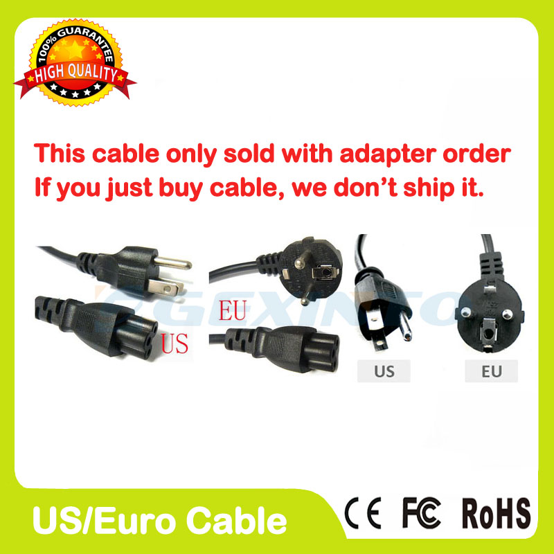 EU US plug AC Power Cord cable for laptop adapter lead Adapter elc12 e 8dc da r standard elc 12 series expansion modules 4 input 4 output
