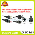 EU US plug AC Power Cord cable for laptop adapter lead Adapter