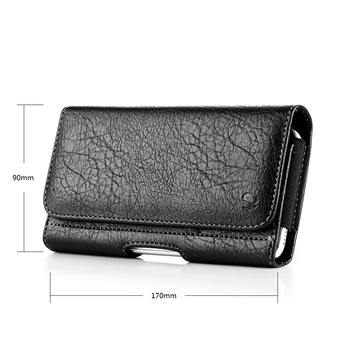 Universal Pouch Wallet Case 6.3/5.5/4.7 inch Waist Bag Magnetic Horizontal Phone Cover for iPhone X 8 7 Phone Belt Holster Clip 6