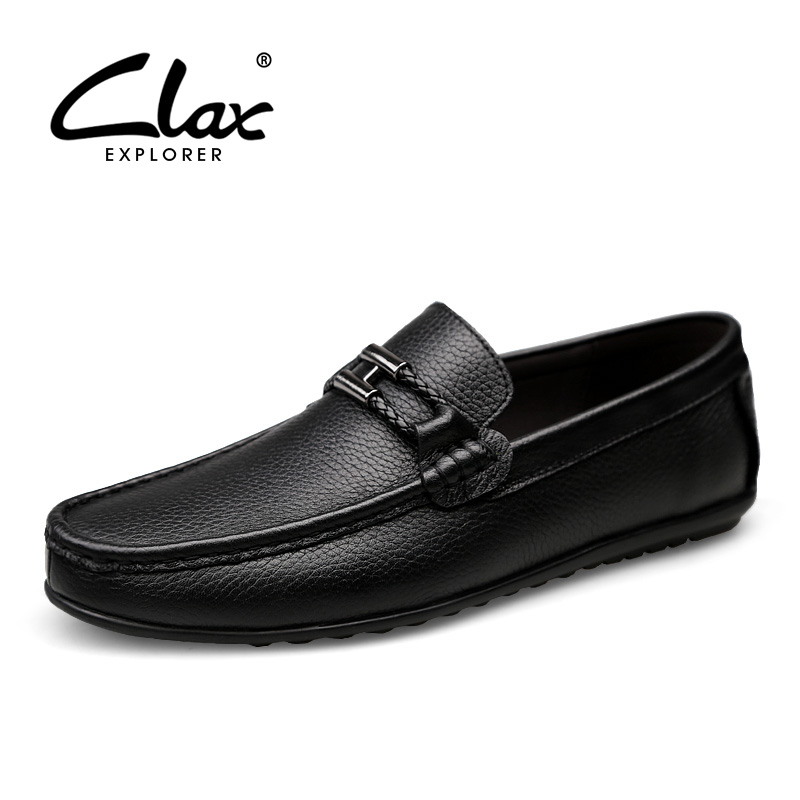 CLAX Mens Mocassin Leather Loafers Summer Autumn Casual Boat Shoe Male Genuine Leather chaussure homme Breathable