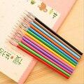 JONVON SATONE Pen recarga 12 Color/lote para estudiantes papelería Color de la pluma núcleo 0,5mm venta al por mayor por escrito la escuela herramientas
