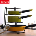 House Scenery Kitchen Storage Multi-function Stainless Steel Pot Holder Creative Dishes Drain Rack Shelf Cutting Board Storage