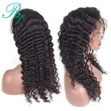 Pre Plucked Full Lace Human Hair Wigs For Black Women 150% Density Brazilian Deep Wave Remy Riya Hair