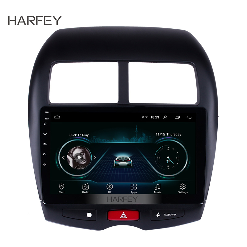 Harfey 10.1 Car Multimedia Player Android 8.1 For 2010 2011-2015 Mitsubishi ASX Peugeot 4008 with WIFI GPS Navigation SystemHarfey 10.1 Car Multimedia Player Android 8.1 For 2010 2011-2015 Mitsubishi ASX Peugeot 4008 with WIFI GPS Navigation System