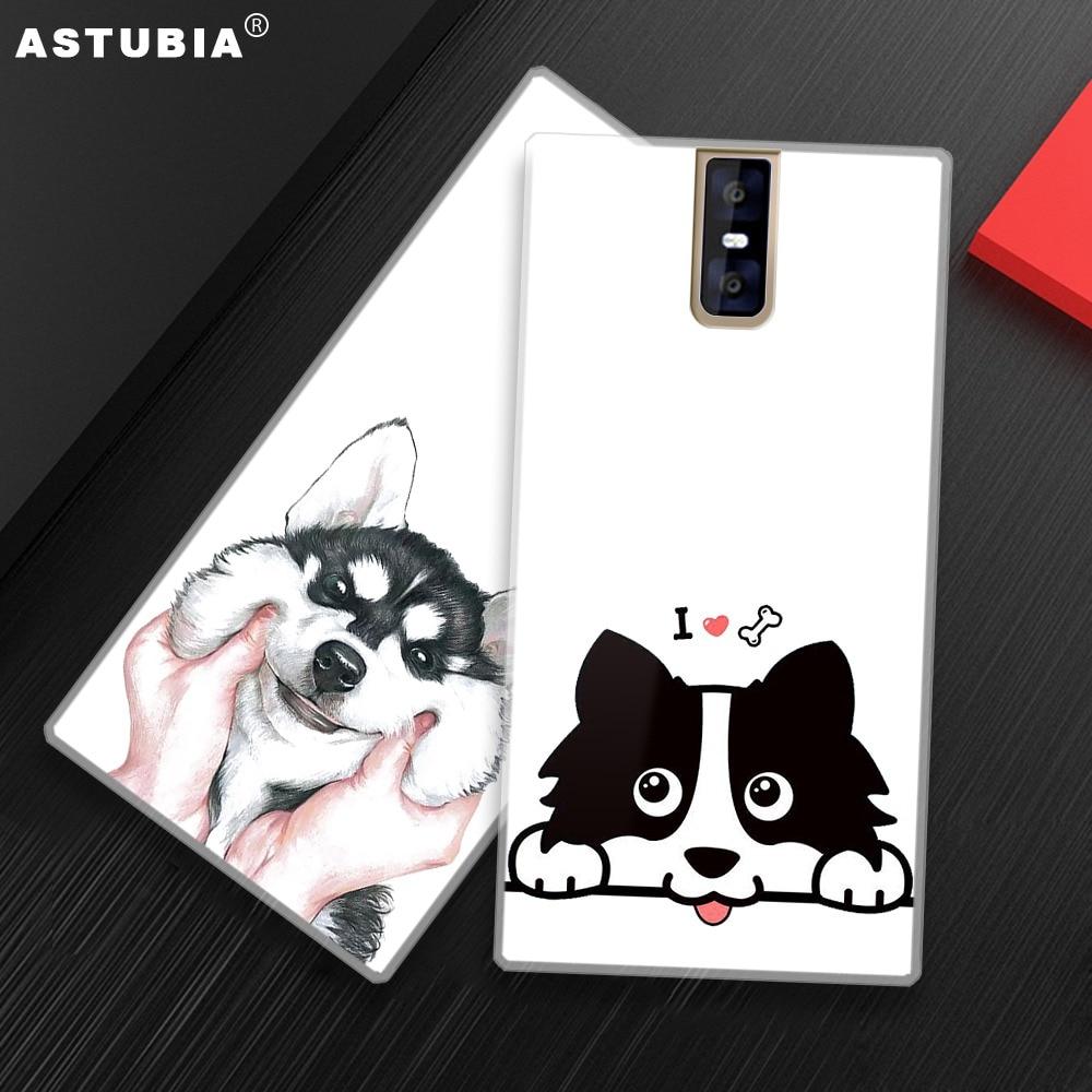 ASTUBIA Cute Dog Case For Oukitel C8 Case Cover For Oukitel K3 K8000 Case Silicone Hat Bulldog Cover For Oukitel K5000 Case Capa