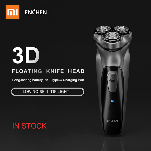 Xiaomi 2019 NEW Enchen BlackStone 3D Electric Shaver Razor Men Washable Type-C Rechargeable Shaving Beard Machine 1