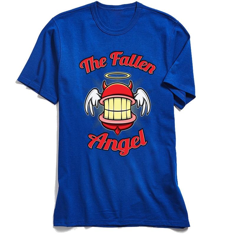 the Fallen Angel 2018 New Men's Tshirts Crew Neck Short Sleeve Cotton Fabric Tops T Shirt Classic Tops & Tees Wholesale the Fallen Angel blue