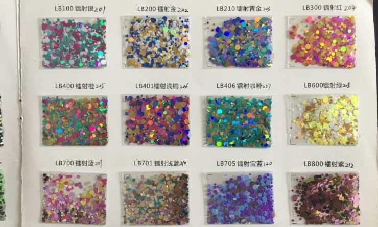 Wholesale Lowest Price 500Gram 36 44euro bag glitter sequins points dot mix glitter craft holographic glitter
