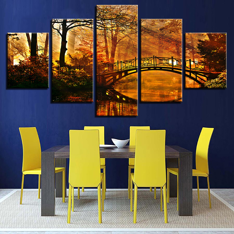 Classic Home Decor Pieces: Canvas Painting Home Decor Framework HD Prints Tree Poster